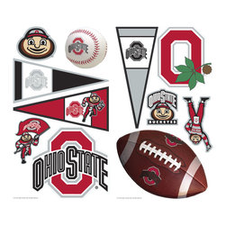 York Wallcoverings - NCAA Ohio State Buckeyes 22pc College Wall Accent Stickers - Features: