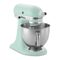 KitchenAid Artisan Stand Mixer, Ice Blue - An aqua kitchen wouldn't be complete without one of these.