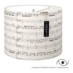 Drum Lamp Shade - Music and Light. - - Made to order by hand.