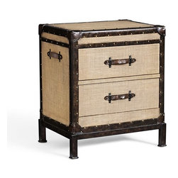 Redford Trunk Bedside Table - Trunk nightstands are such a fun way to add a quirky element to a room. You could even try DIYing something like this.