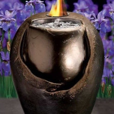 Tropical Lighting Raku Flame Fountain
