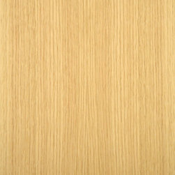 Rift Cut Red Oak Veneer - Red Oak veneer is an open grain wood whose color range is a light wheat color to a pink tone and is one of the most common woods used today. Rift red oak has a characteristic linear grain. Available in a variety of backers and sizes.