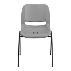 Flash Furniture - Flash Furniture Stack Chairs Plastic Stack Chairs X-GG-YG-1OE-TUR - We consider this student stack chair to be the premier stack chair - essential for every school and classroom setting. This ergonomic stack chair provides a body molded, high impact plastic shell set upon a heavy gauge steel frame. The comfort-formed back and contoured seat with waterfall front will give you complete comfort and lasting durability. [RUT-EO1-GY-GG]