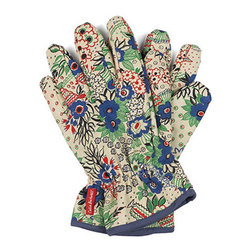 Celia Birtwell Gardening Gloves - Acclaimed for her original hand-drawn prints, Celia Birtwell is one of the most influential textile designers in England today. These bright and colorful gardening gloves are deceptively tough, offering great protection and padded comfort while trimming rose bushes or tackling climbers. Why not stay pretty and stylish while working in the garden?