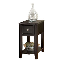 "Signature Design by Ashley - 23"" Height x 13"" Width x 22"" Depth Carlye - The Carlye Chairside Table by Famous Brand Lamps will awaken the look and feel of any room decor."