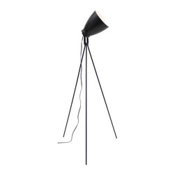 Lumisource - Grammy Reader Floor Lamp in Black - Tripod legs add stability. Can be used as reading lamp or ambient spotlight. Made from metal. Assembly required. 24 in. Dia. x 52 to 57.5 in. H (4 lbs.)Grammy Reader is a perfect fit anywhere from the living room to a dorm room.