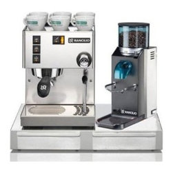 Rancilio - Rancilio Miss Silvia V3 Espresso Machine / Rocky Doserless Grinder / Base Set - Rancilio Miss Silvia V3 Espresso Machine Rancilio Rocky Doserless Grinder Rancilio Two Drawer Base 1-Year Warranty Accessories included: Commercial portafilter handle, 1-cup and 2-cup filter baskets, Coffee measure scoop, Coffee tamper Espresso cups shown in the image are not included in this set