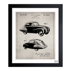 "The Oliver Gal Artist Co. - 'Design For An Automobile 1936' Framed Wall Art 15"" x 18"" - Car lovers will rev their engines for this vintage illustration. Choose from three sizes of framed patent blueprints. One would make a perfect gift for anyone with a new office or den."