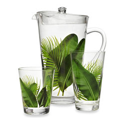 Poolside Palms Acrylic Drinkware - A clear material like acrylic can make any design or pattern pop out, like these large leaves. I'd love this set for drinks on the patio.