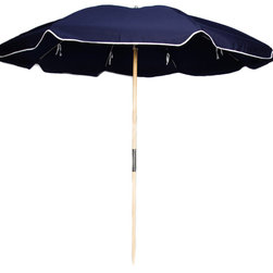 Sunrise Chair Company - Sunrise Beach Umbrella, Fiberlite Frame -  Navy - Sunrise hearty beach umbrellas are perfect for a sunny day on the beach with family and friends & provide a stylish way to enjoy fun in the sun while keeping yourselves and your belongings cool in the shade.