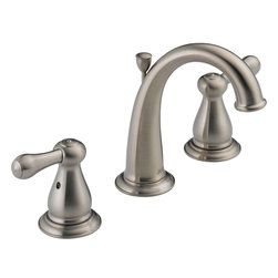 Delta - Delta 3575-SSMPU-DST Leland 2 Handle Lav. Faucet - Delta 3575-SSMPU-DST is a two handle widespread lavatory faucet in Stainless Steel. This faucet has a tall, high arching spout which allows for a great amount of clearance bellow.