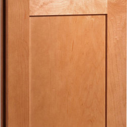 Dayton Door | Maple Caramel Finish | CliqStudios.com Kitchen Cabinets - Dayton's shaker-inspired, recessed-panel doors and drawer fronts are reminiscent of true arts and crafts character that is exceedingly popular today. Crisp lines and simple styling make Dayton adaptable to any lifestyle.