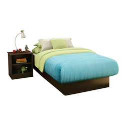 South Shore - South Shore Libra Kids Chocolate Twin Wood Platform Bed 3 Piece Bedroom Set - South Shore - Kids Bedroom Sets - 31592353PKG - South Shore Libra Kids Chocolate Twin Wood Platform Bed 3 Piece Bedroom Set