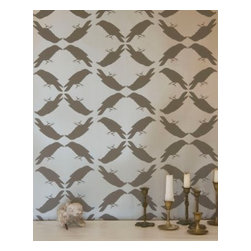 Madison&Grow - Erin Wallpaper, Gilded Chocolate - Vanillawood is an official rep for Madison and Grow Wallpaper!