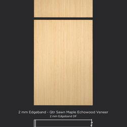 Modern Veneer Slab Cabinet Door Style in Quarter Sawn Maple Echowood - Contemporary Veneer Cabinet Doors in Quarter Sawn Maple Echo Wood from TaylorCraft Cabinet Door Company
