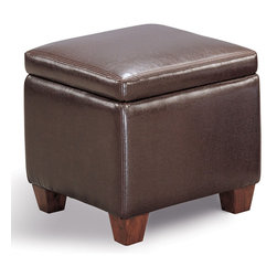 Coaster - Dark Brown Casual Ottoman - OTTOMAN - FOOT STOOL