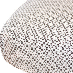 Geo-Circles Crib Sheet in White and Espresso