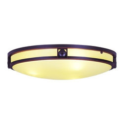 Livex Lighting - Livex Lighting 4489 3 Light 180 Watt Flushmount Ceiling Fixture with Satin White - 3 Light 180 Watt Flushmount Ceiling Fixture with Satin White Glass from the Matrix CollectionFrom the Matrix Collection, this three light flush mount ceiling fixture with iced champagne glass adds a decorative touch and ample lighting.Features: