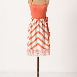 Sweeping Angles Apron - This apron has beautiful salmon tones but also a stylish chevron pattern. Your outfit officially has some competition.