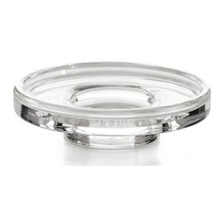 WS Bath Collections - 4.7 in. Round Soap Dish - Contemporary design. Warranty: One year. Made from clear glass. Made by Lineabeta of Italy. 4.7 in. Dia. x 1.2 in. H (1 lbs.). Spec SheetUnique and fine bath accessories and complements, that provide inspirational solutions for every decor.