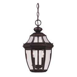 Savoy House - Endorado Hanging Lantern - A builders dream for outdoor lighting! A classic, traditional look as economical as it is versatile. English bronze finish with clear glass.