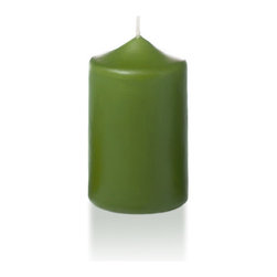 "Neo-Image Candlelight Ltd - Set of 12 - Yummi 2.25"" x 3"" Green Tea Slim Pillar Candles - Our unscented 2.25""x3"" Slim Pillar Candles are ideal when creating a beautiful candlelight arrangement for the home or wedding decor.  Available in 44 trendy candle colors hand over dipped with white core to match and compliment your home decor or wedding centerpiece decoration."