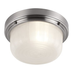 Murray Feiss - Murray Feiss Elliot Transitional Flush Mount Ceiling Light X-SB083MF - The Elliot Collection of flushmounts features a deep, broad shade surrounded by a simple beveled ring detail. Available in two sizes and two finishes.