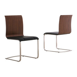 Whiteline Imports - Whiteline Imports Liz Dining Chair - High Gloss White (Set of 2) - Dining chair belongs to Liz collection by Whiteline
