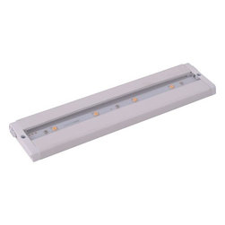 """Maxim - Maxim 89941WT 12"""" 4-Light LED Under Cabinet Light from the CounterMax MX Collect - Maxim 89941WT CounterMax MX 12"""" 4-Light LED Under Cabinet LightEmitting a clean white light that illuminates without shadows, this 12"""" 4 Light LED Under Cabinet Light features extremely energy-efficient LED units and a slim design that makes it suitable for any environment.The CounterMax MX-L-LPC series, a state-of-the-art low profile LED under cabinet light, installs easily under the cabinet and emits a crisp white light which illuminates without shadows. Dimmable using a standard wall dimmer and cabinets stay cool and safe with LED light output. CounterMax MX-L-LPC series is connectable with or without cords using MXInterLink5 technology, making this series convenient as well as beautiful.Maxim 89941WT Features:"""