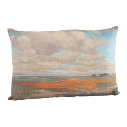 "Poetic Pillow - California Poppies Redmond Pillow - Size: 16"" X 24"" rectangular pillow"