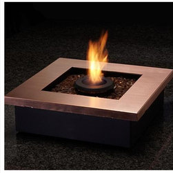 Zen Personal Tabletop Fireplace - This mini-fire pit has a stylish, contemporary look to it and is the the perfect outdoor heating solution that fits on a side table. It's like giving your guest their own personalized eternal flame to sit by their chair - warmth and light.