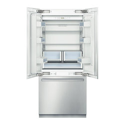 """Bosch Integra 36"""" Built-in French Door Bottom-freezer, Stainless 