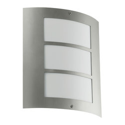 Eglo - City - Outdoor Base Light by Eglo in Stainless steel and clear glass. modernize your patio, driveway or garden path with this stunning fixture.