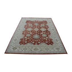 Oushak Oriental Rug, 9'x12' Hand Knotted 100% Wool Honey Brown Area Rug SH14204 - Hand Knotted Oushak & Peshawar Rugs are highly demanded by interior designers.  They are known for their soft & subtle appearance.  They are composed of 100% hand spun wool as well as natural & vegetable dyes. The whole color concept of these rugs is earth tones.