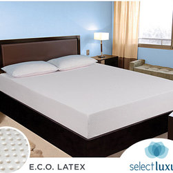 Select Luxury - Select Luxury E.C.O. Latex Firm 10-inch Twin XL-size Mattress - Have a peaceful sleep on this hypoallergenic foam mattress, featuring a high-density foam interior, a firm, orthopedic support for maximum pressure relief, a four-sided zipper for easy removal and 2 inches of natural latex for added support.
