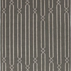 Surya Rugs - Surya FT367 Frontier Flat Weave Dark Gray Rug (9-Feet x 13-Feet ) - 100% Wool. Style: Flat Weave. Rugs Size: 9' x 13'. Note: Image may vary from actual size mentioned.