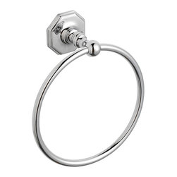 Hudson Reed - Victorian Range Towel Ring Bathroom Towel Holder - Our high quality brass luxury range of Victorian style bathroom accessories. Towel Ring Dimensions:  Height: 8 (205mm) Width: 7.2 (183mm) Depth: 2.8 (71mm) Available in Chrome Finish. Supplied with screws and wall plugs for wall attachment.