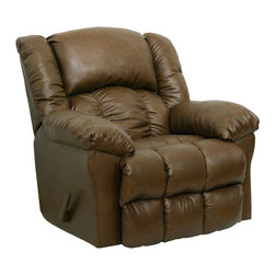 Catnapper - Catnapper Winchester Bonded Leather Rocker Recliner Chair in Tanner - Catnapper - Recliners - 44232120836300836 - Let the Winchester Chaise Rocker Recliner by Catnapper become the best seat in the house. Designed for optimal comfort with its extra wide chaise pad seating this chair is made of top quality durable bonded leather. Available in three exciting leather colors such as tobacco tanner and saddle it will be a perfect addition to any living room office or den. Rest up your body and relax completely with this great chaise rocker recliner!