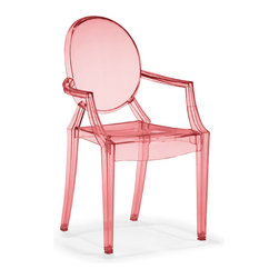 Zuo - Baby Anime Chair Sold as Set of 2, Transparent Red - The Baby Anime chair is based on the popular adult-size Anime Chair.  The kids don't have to sacrifice style and function in their space.  The Baby Anime, made of polycarbonate or lexan, is durable and has a built-in UV compound.  This timeless yet modern chair is available in 4 playful colors. Sold as a set of two (package cannot be broken).