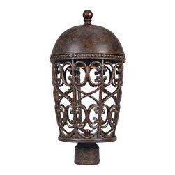 """Designer Fountain - Amherst-DS 10"""" Post Lantern-DS - 10 inches wall lantern dark sky"""