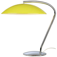 atomic yellow table lamp in view all lighting | CB2