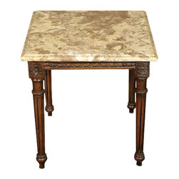 MBW Furniture - Solid Wood Mahogany Marble Top Occasional Coffee Table - This product is finely constructed from top grade solid wood. Artisans use the old world method of tongue and groove and mortise and tenon joinery to create this beautiful and durable piece of furniture. Its superb hand-crafted quality will add a touch of elegance to your home.