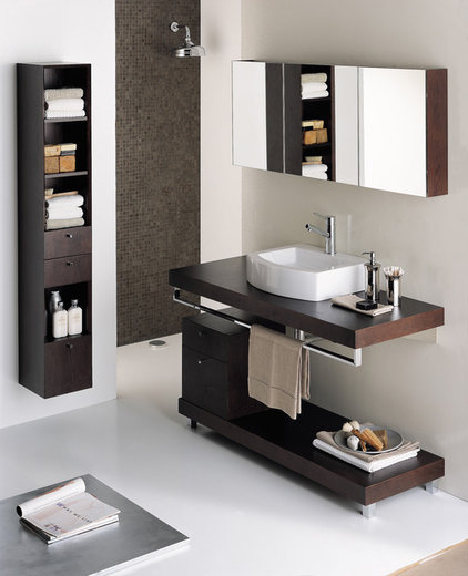 contemporary bathroom vanities and sink consoles by LACAVA