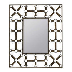 Cooper Classics - Cooper Classics Windfall Mirror, Aged Rusted Brown - Add a unique touch to your decor with the handsome windfall mirror. This lovely wall mirror boasts an aged rusted brown finish that will compliment any decor.