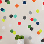 The Lovely Wall Co - Very Boy Confetti Dots Wall Decal - Please note that metallic vinyl is not reusable.