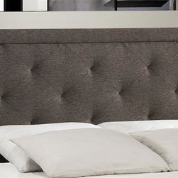 Hillsdale Furniture - Headboard with Rails (King) - Choose Size: KingTall and stately. Rectangular, pillowed headboard. Requires a mattress and box spring. Some assembly required. 42 in. W x 63.5 in. D x 52.25 in. H (56.4 lbs.)