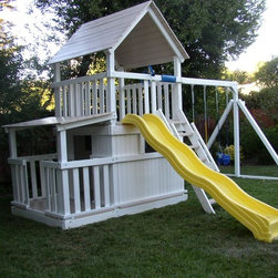 Swing Set Additions - Full Bottom Enclosure w/ Porch - Full Bottom Enclosure w/ Porch
