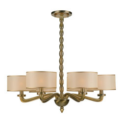 Crystorama - Luxo 6 Light Chandelier With Silk Mini Drum Shades - From kitchens to kids rooms to dining rooms and urban lofts, our Luxo collection brings understated luxury to any room. As a family owned company their concern for excellence is expressed in their styling, detailing and sincere caring for their valued customer. Crystorama was initially founded as a primary importer of crystal chandeliers and offers the finest selection of classical crystal designs.