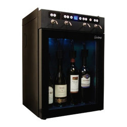 Vinotemp - Four Bottle Wine Dispenser - Vinotemp's state-of-the-art 4 Bottle Wine Dispenser easily dispenses, preserves and chills four bottles of red or white wine. With easy push button controls, you can pour a perfect glass of wine at the touch of a button. Our 4 Bottle Wine Dispenser is an outstanding gift item for any wine aficionado and a great way for restaurants and wine bars to serve and preserve open bottles of wine.