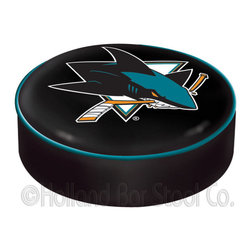"Holland Bar Stool - Holland Bar Stool BSCSJShar San Jose Sharks Seat Cover - BSCSJShar San Jose Sharks Seat Cover belongs to NHL Collection by Holland Bar Stool This San Jose Sharks bar stool cushion cover is hand-made in the USA by Covers by HBS; using the finest commercial grade vinyl and utilizing a step-by-step screen print process to give you the most detailed logo possible. This cover slips over your existing cushion, held in place by an elastic band. The vinyl cover will fit 14"" diameter x 4"" thick seats. This product is Officially Licensed. Make those old stools new again while supporting your team with the help of Covers by HBS! Seat Cover (1)"
